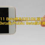 iOS11 Beta版をiOS10に戻す方法 Beta版/Public Beta版共通