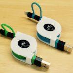 cheero 2in1 Retractable USB Cable グリーンをレビュー!