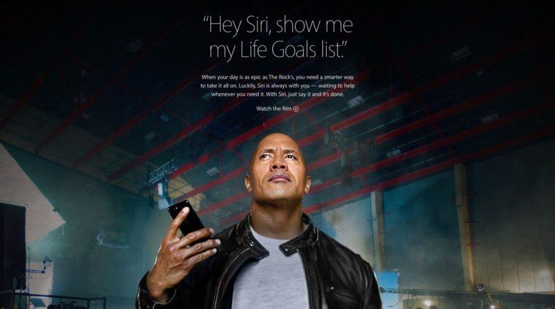 Apple、Siriとドウェイン・ジョンソンが共演したオリジナルムービーを公開