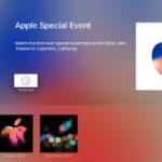 Apple、tvOS向けアプリ「Apple イベント」をアップデート