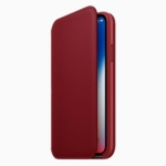 Apple、「(PRODUCT)RED iPhone Xレザーフォリオ」を発表