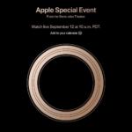 Apple、現地時間2018年9月12日に発表会を開催へ